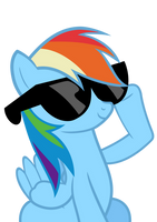 Deal With It - Rainbow Dash by Drakefire3k