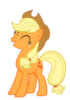 Smiling Applejack by Drakefire3k