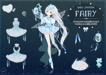 [CLOSED] Snow Lantern Fairy Adopt #3 by honeypaws-adopts
