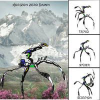 Horizon Zero Dawn Machine Design: Spearwalker
