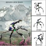 Horizon Zero Dawn Machine Design: Spearwalker