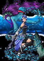 Aqua and her Eidolon by Rebellya