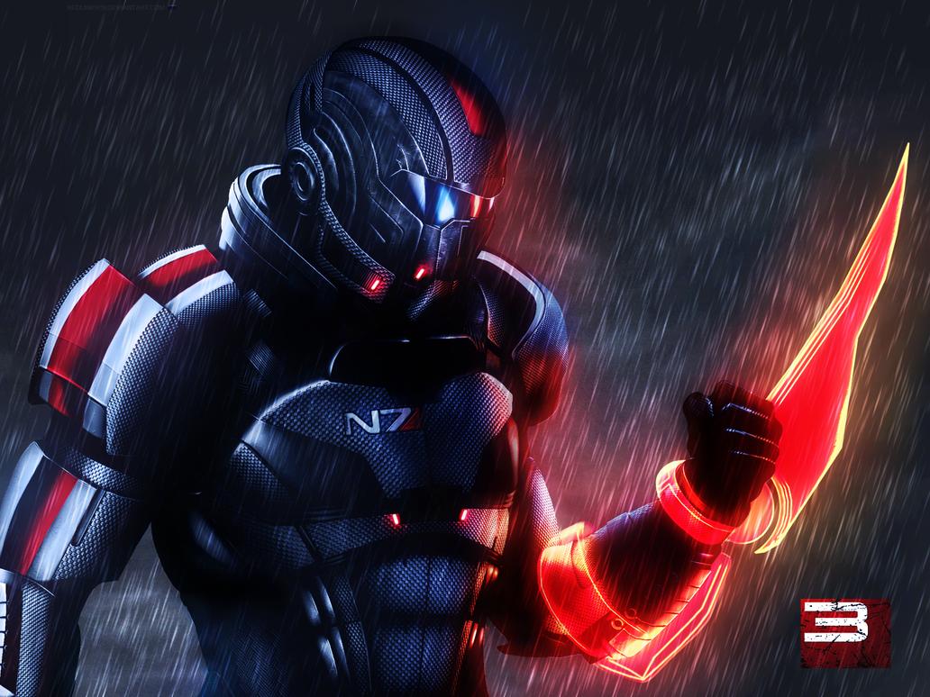 Mass Effect 3 Shepard Rain Edition Vol 1 by RedLineR91