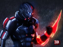 Mass Effect 3 Shepard Rain Edition Vol 1 by RedLineR91