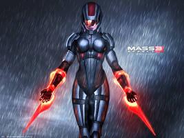 Mass Effect 3 FemShep Rain Edition Vol 2 by RedLineR91