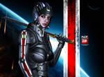 Mass Effect 3 N7 Shadow Wallpaper V2