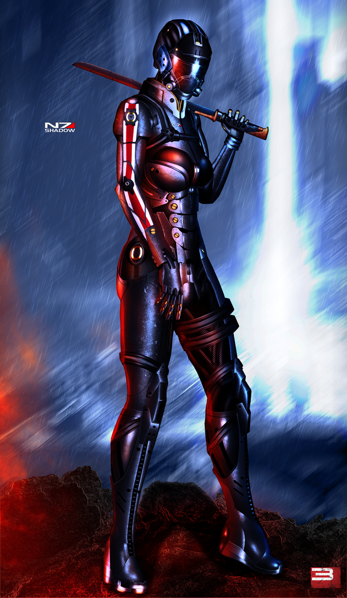 Mass Effect 3 N7 Shadow HD by RedLineR91
