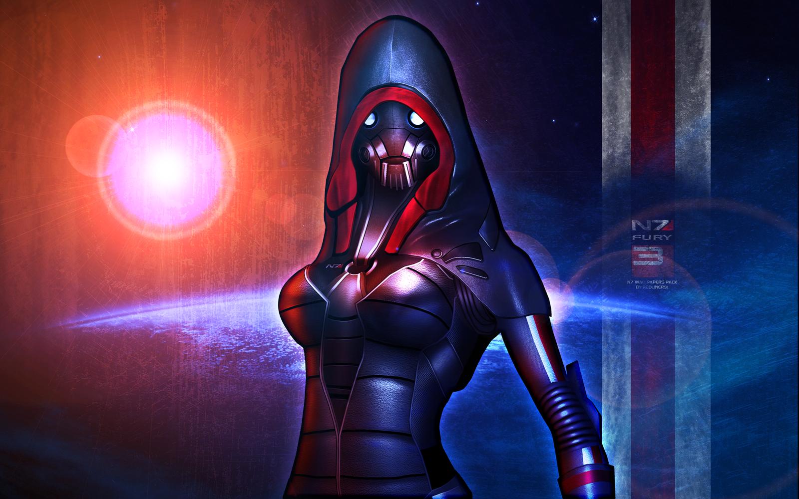Mass Effect 3 N7 Fury Wallpaper (2012) by RedLineR91