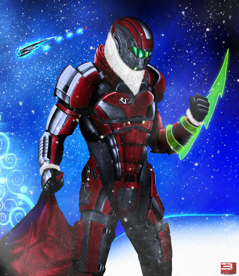 Mass Effect Santa Shepard N7 by RedLineR91
