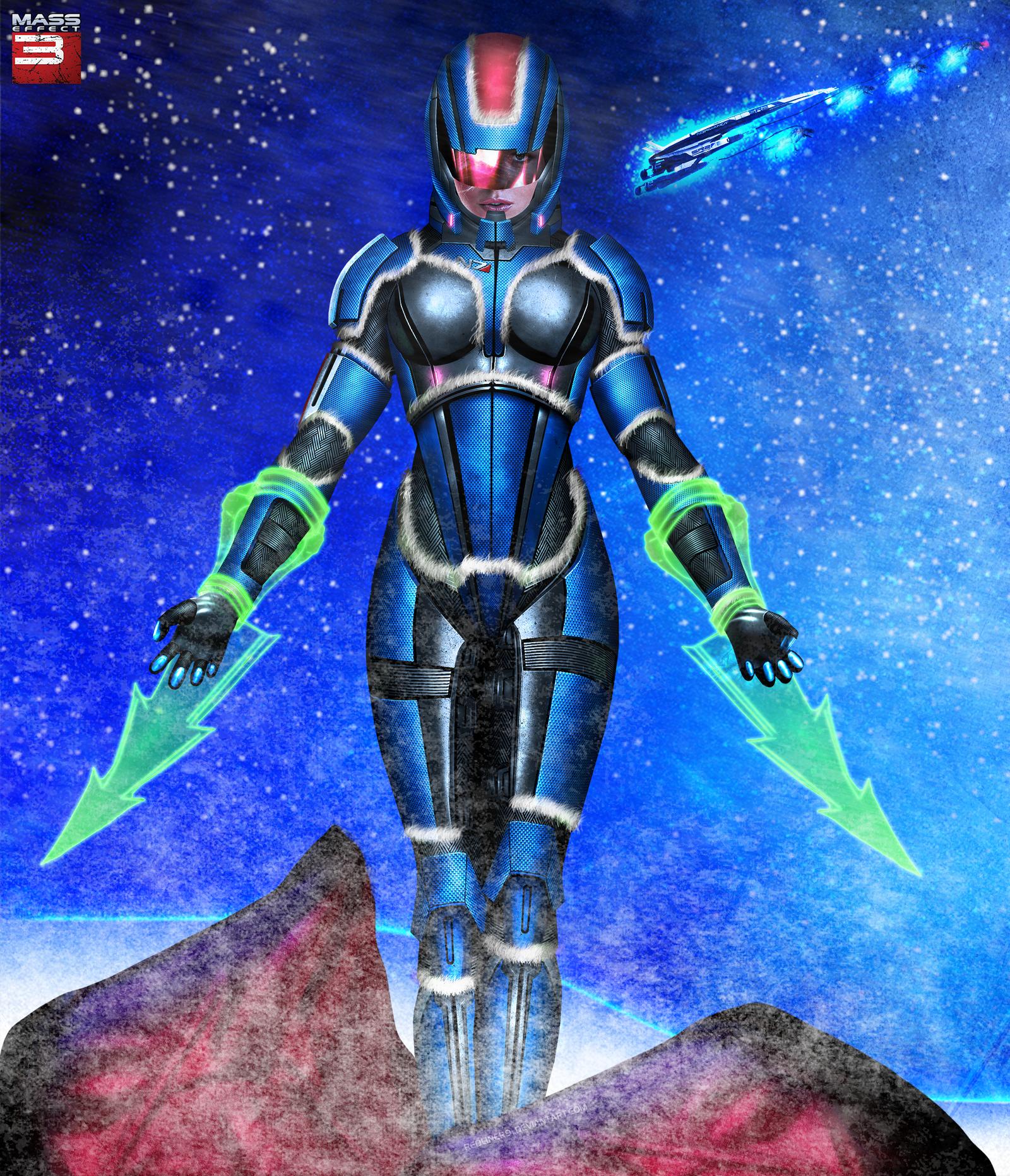 Mass Effect FemShep is Snow-Maiden by RedLineR91