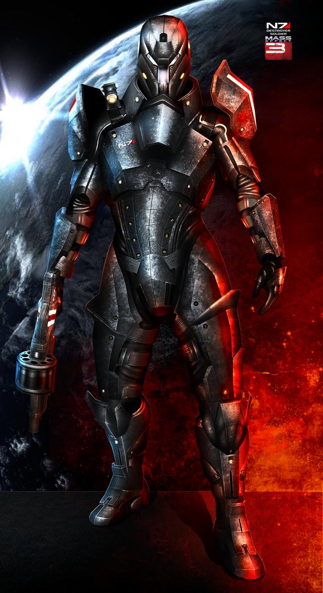 Mass Effect 3 N7 Destroyer V2 (2013) by RedLineR91