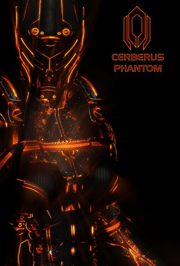 Cerberus Phantom NEON Poster by RedLineR91