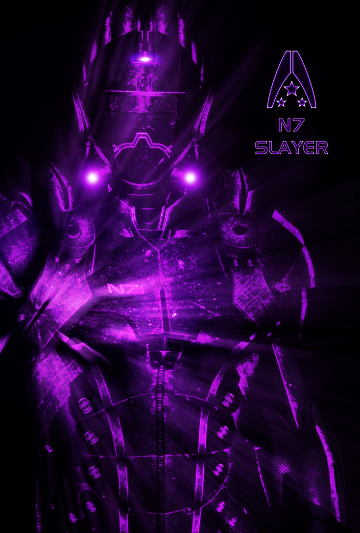 N7 Slayer NEON Poster by RedLineR91