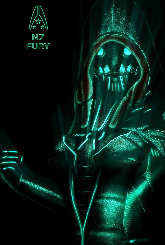 N7 Fury NEON Poster by RedLineR91