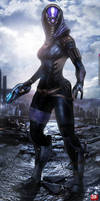 Mass Effect 3 Tali' Zorah (2014) by RedLineR91