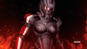 Mass Effect FemShep REDness Ultra HD