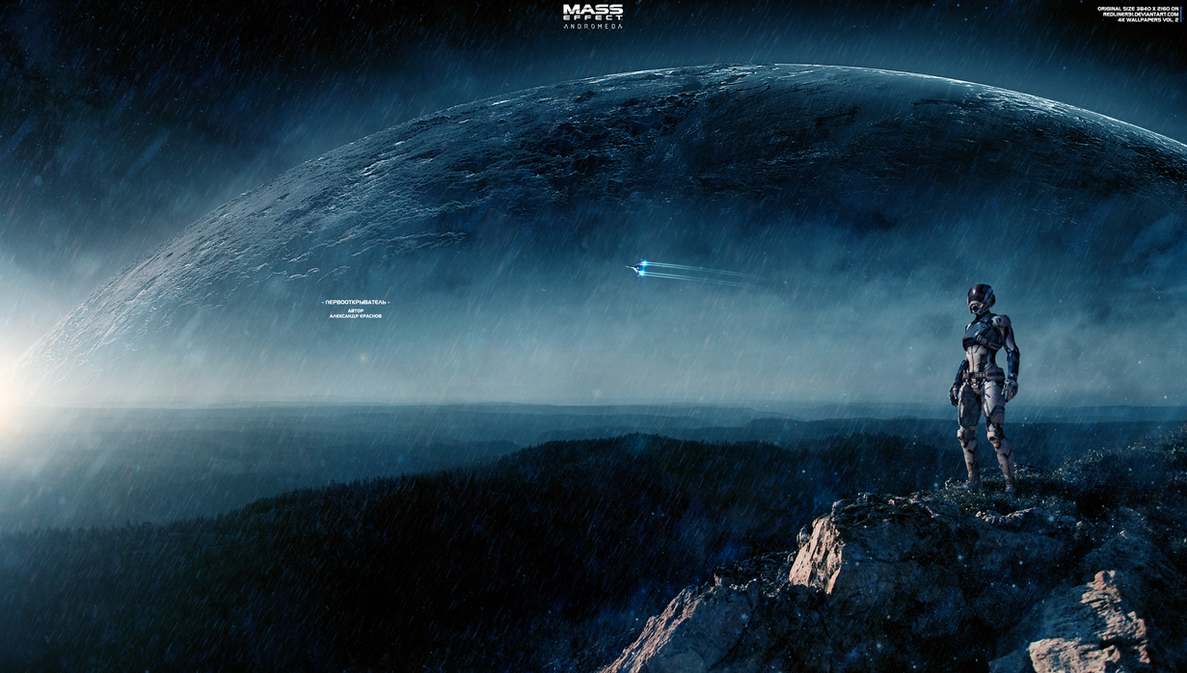 Discoverer mass effect andromeda wallpapers 4k by for Espacio exterior 4k
