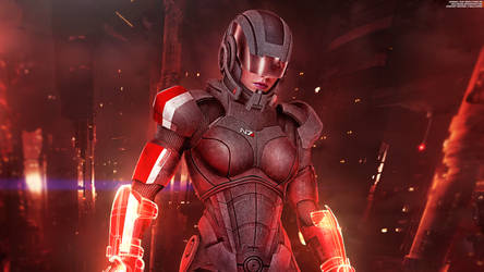 FemShep Sentinel II 2016 Wallpaper 4K by RedLineR91