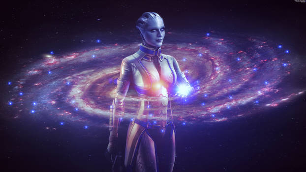 Supervisor - Mass Effect Liara Wallpaper 8K