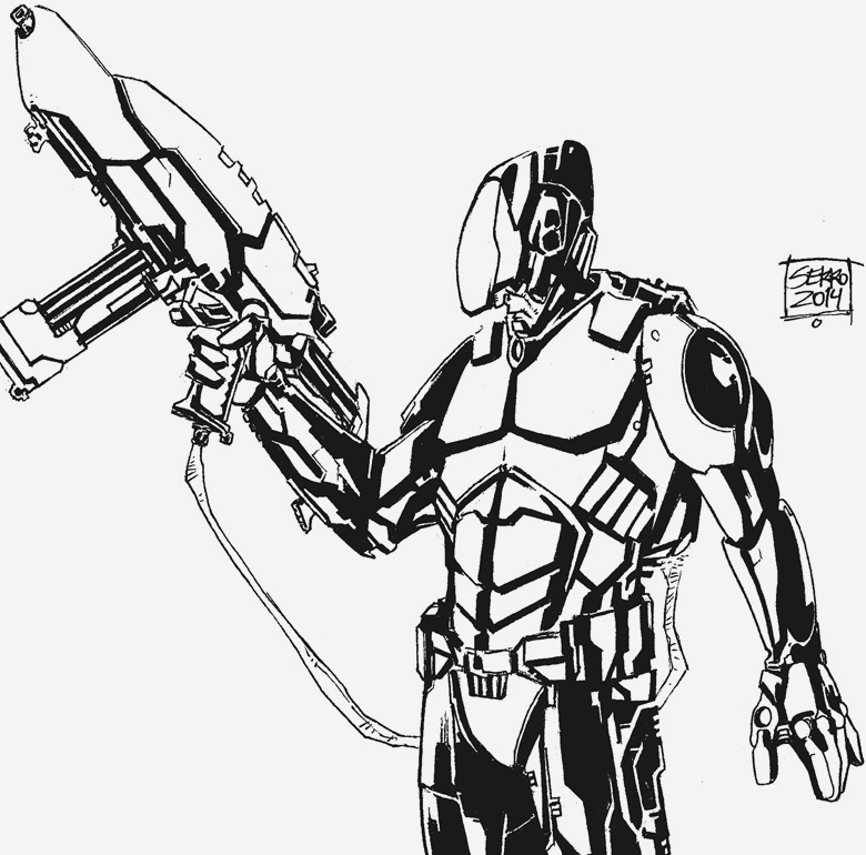 Future Warrior by Carlossoares