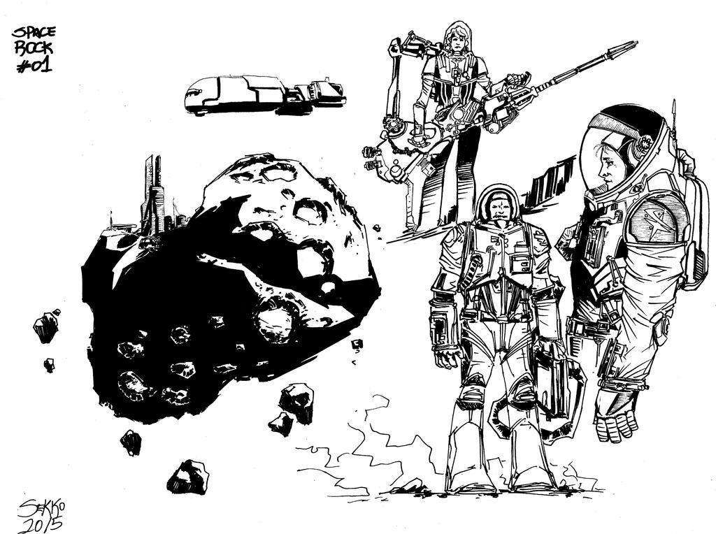 Space sketch by Carlossoares
