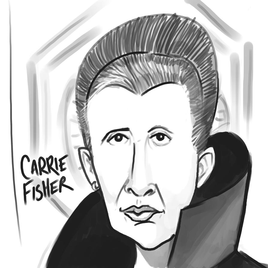 CarrieFisher by DragonPixels