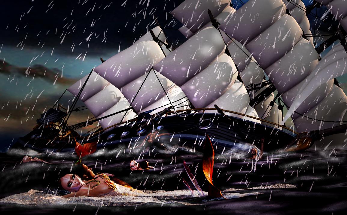 Man Overboard by 3drenders on DeviantArt