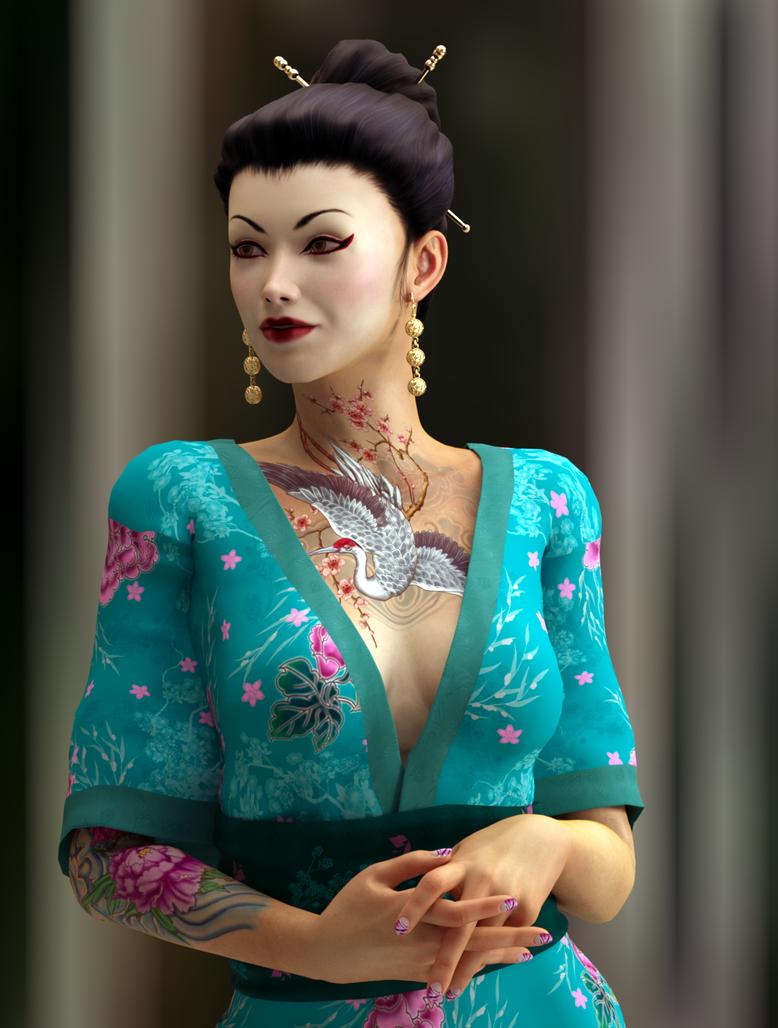 Mitsuko 03 by 3drenders
