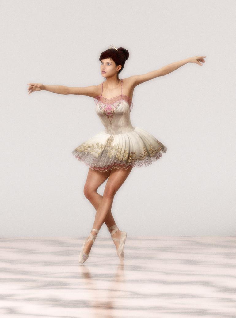 Ballerina 1 by 3drenders