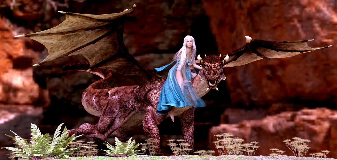 Daenerys Targaryen by 3drenders