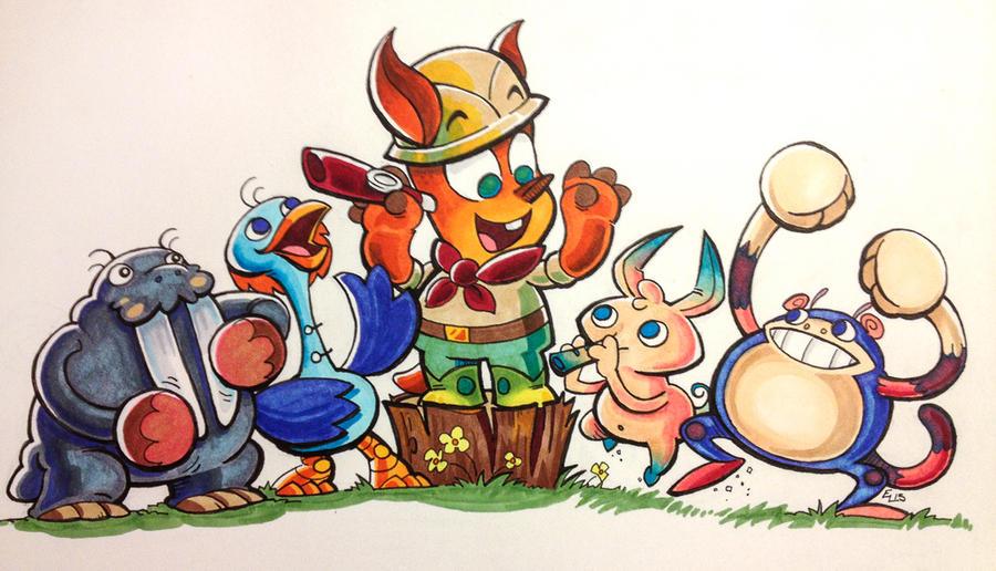 Kazoo's Crew by eric3dee