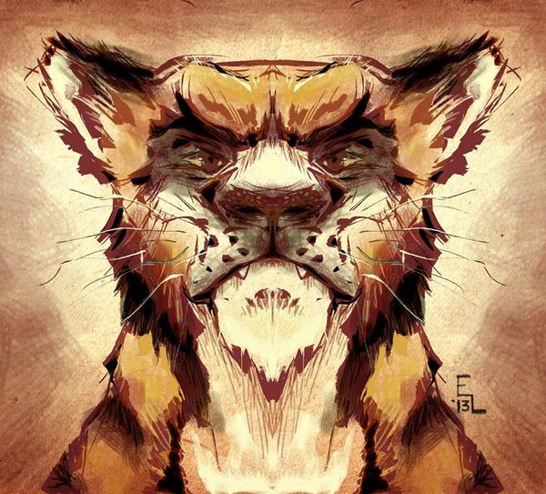Tiger Speedpaint by eric3dee