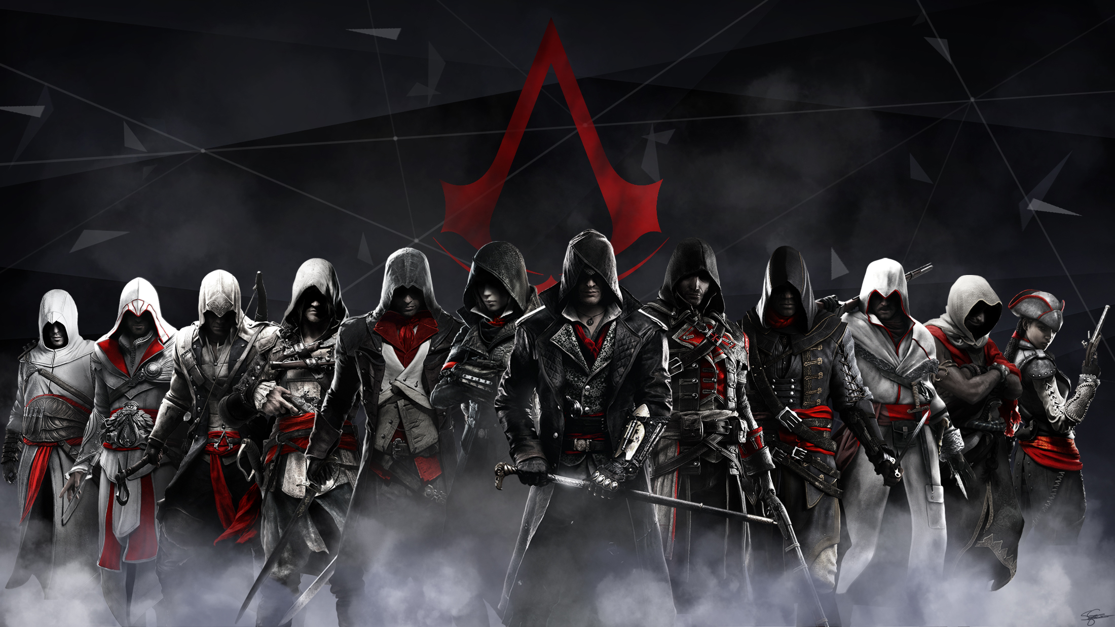 An <b>Assassin&#39-s Creed wallpaper</b> I whipped up : gaming