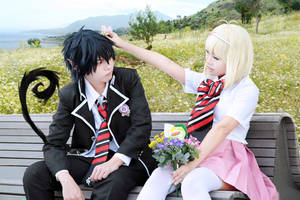 Ao no exorcist : Rin and Shiemi by Ika-xin