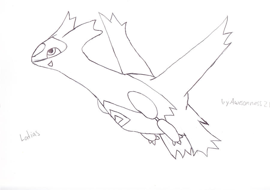 latias and latios coloring pages - photo#36