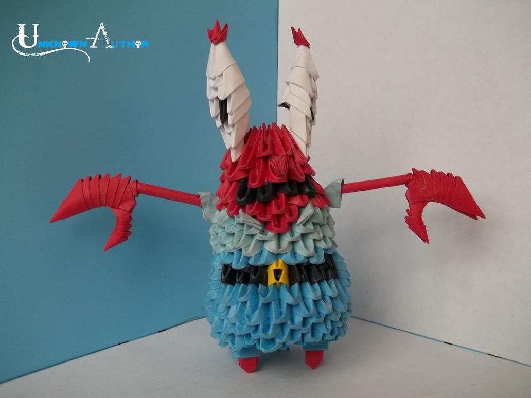 3D Origami - Mr. Krabs by Jobe3DO