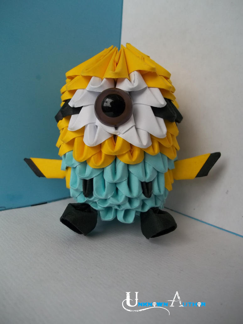 3D Origami - Despicable Me Minion by Jobe3DO