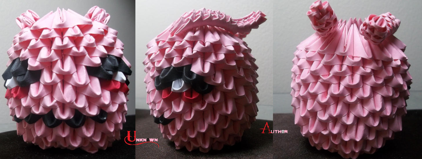 3D Origami - Koromon by Jobe3DO