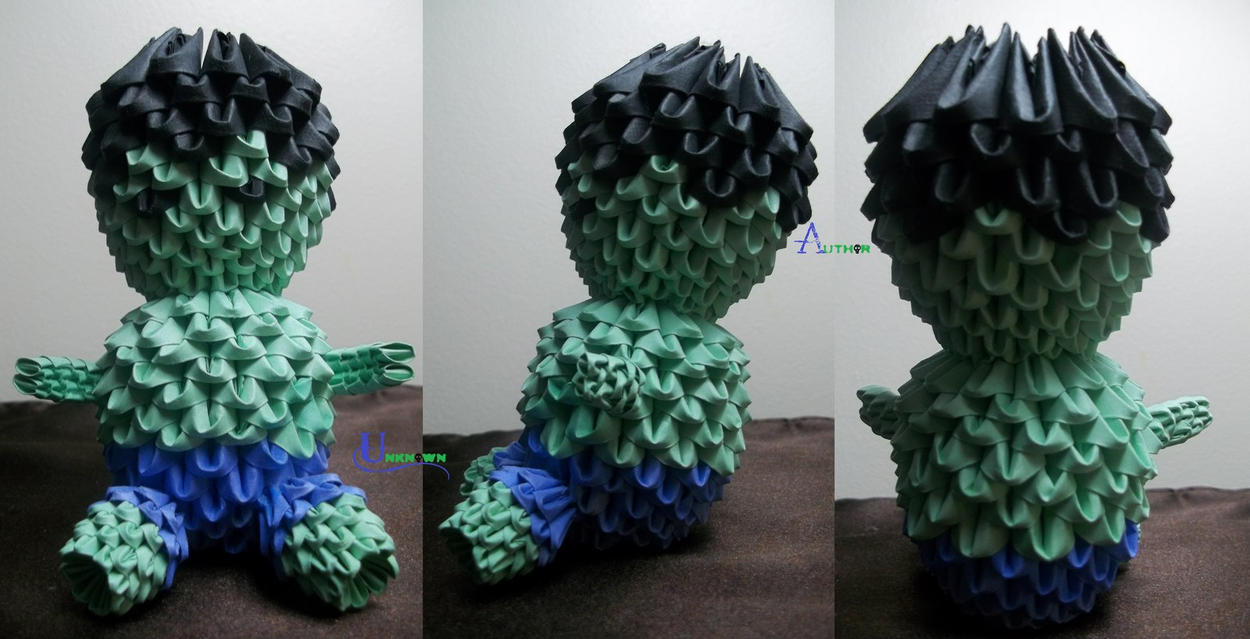 3D Origami - Chibi The Hulk by Jobe3DO