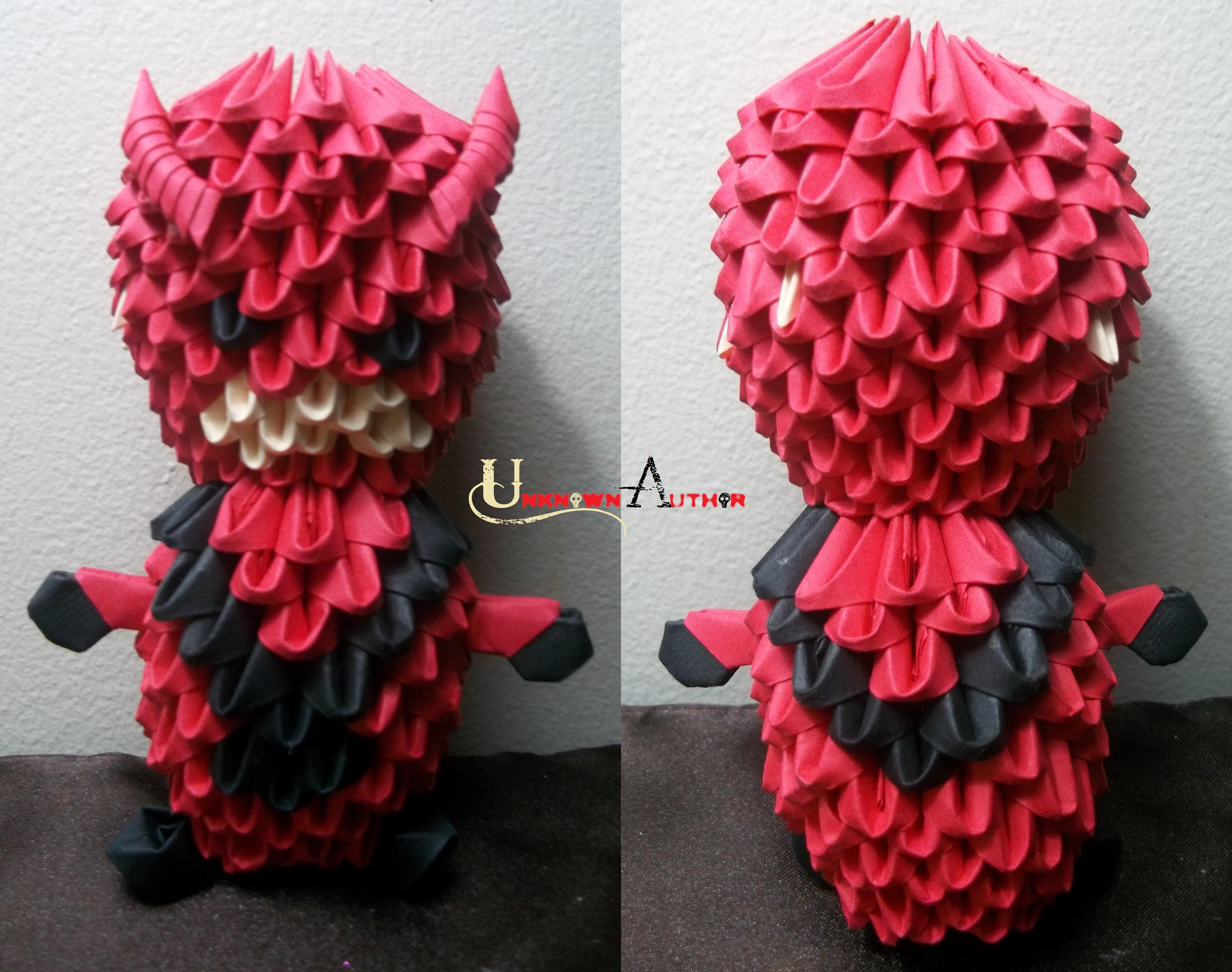 3d Origami Giant Man By Jobe3do On Deviantart