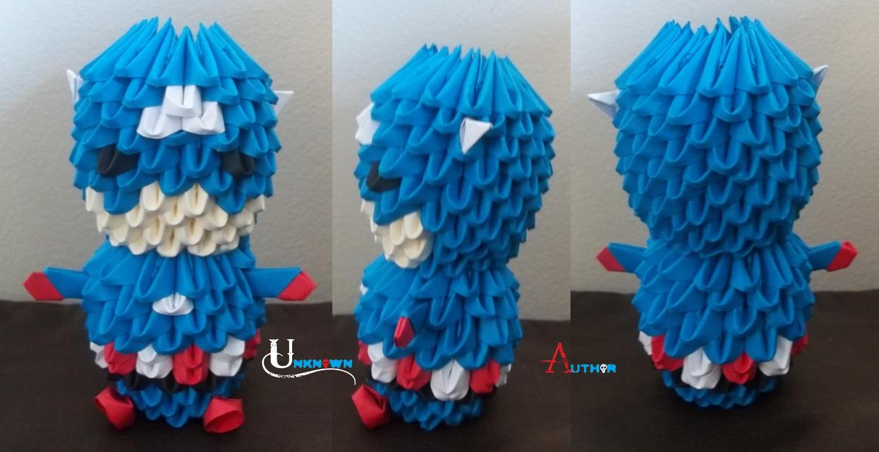 3D Origami - Chibi Captain America by Jobe3DO