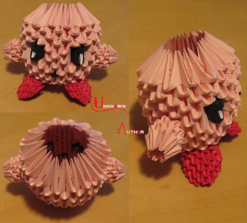 3D Origami - Kirby by Jobe3DO