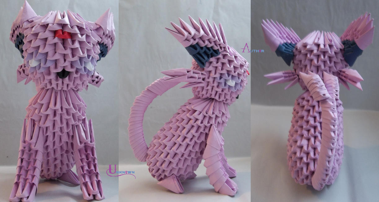 3D Origami - Espeon by Jobe3DO