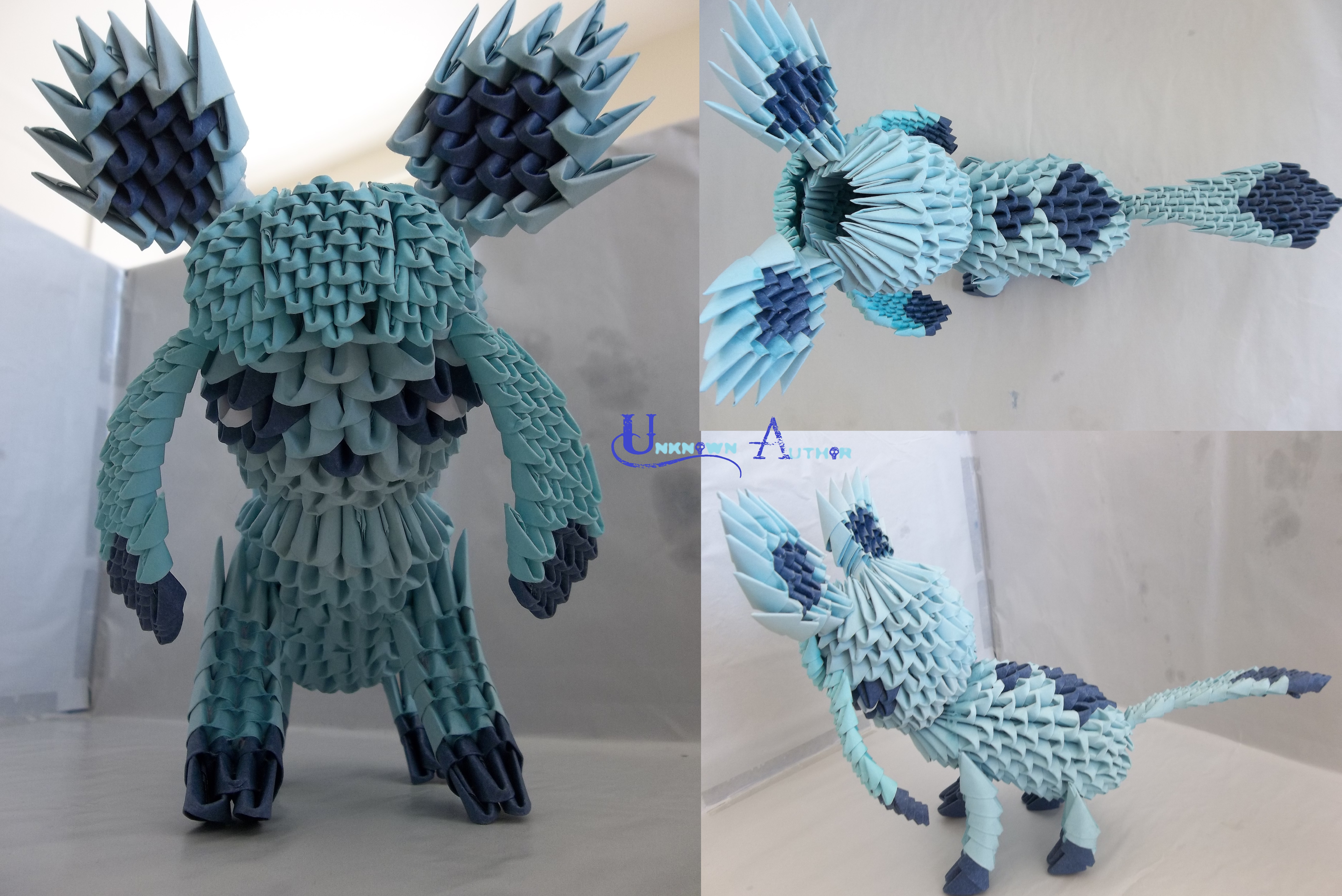 Charmander 3d origami 2 by unsjn on deviantart 3d origami glaceon by jobe3do jeuxipadfo Images