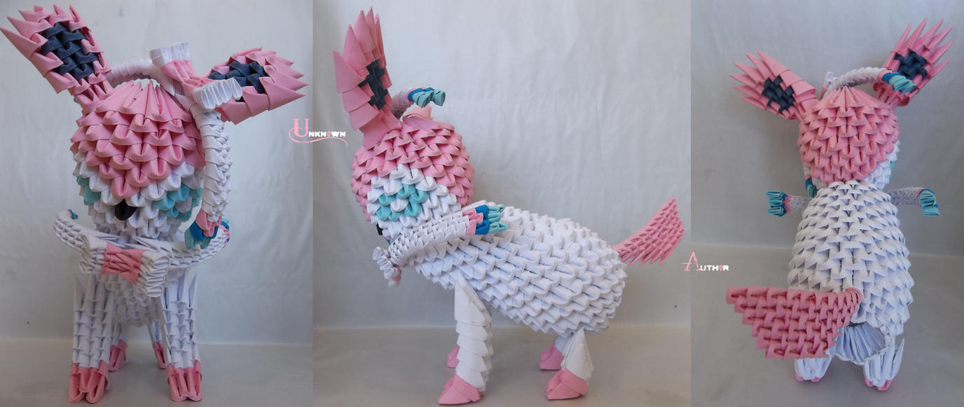 3D Origami - Sylveon by Jobe3DO