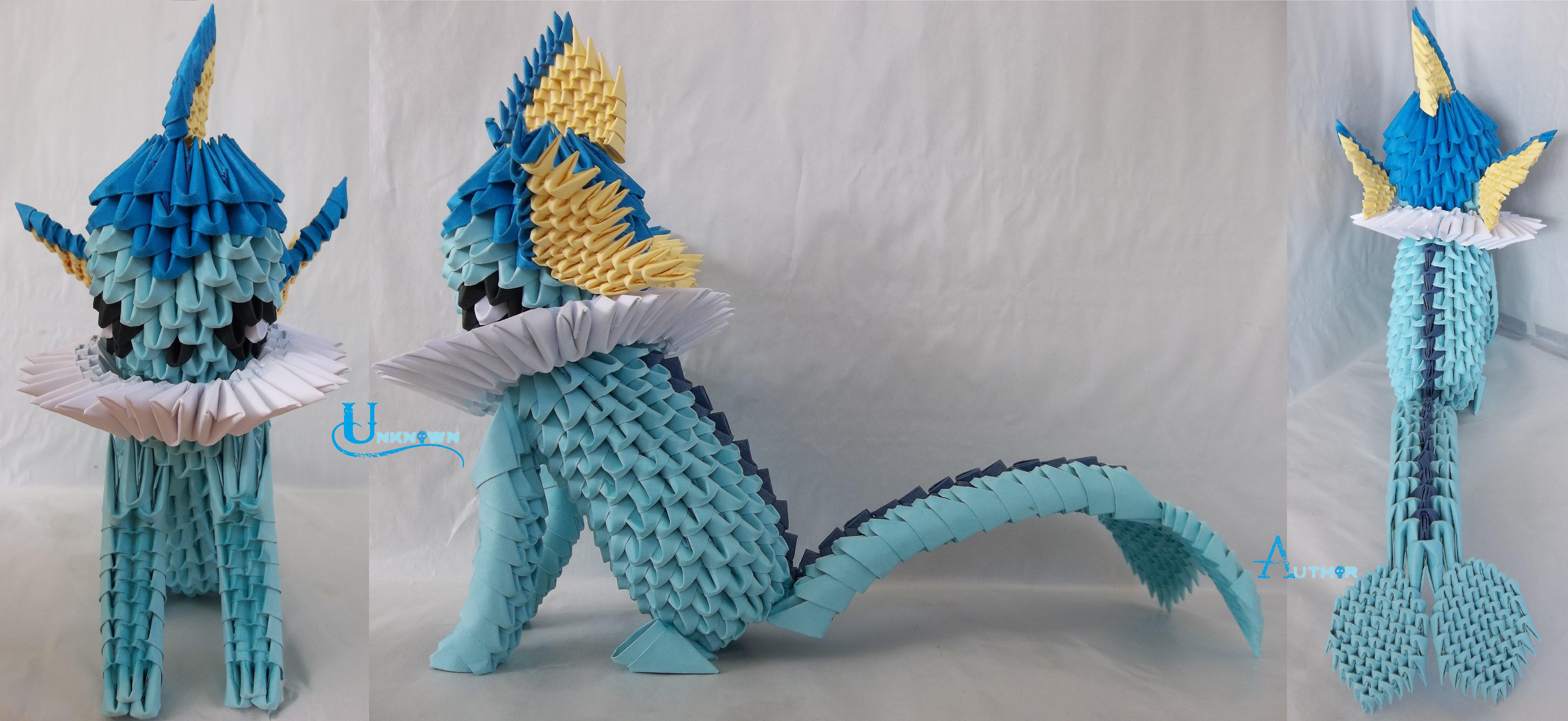 3D Origami - Vaporeon by Jobe3DO on DeviantArt - photo#38