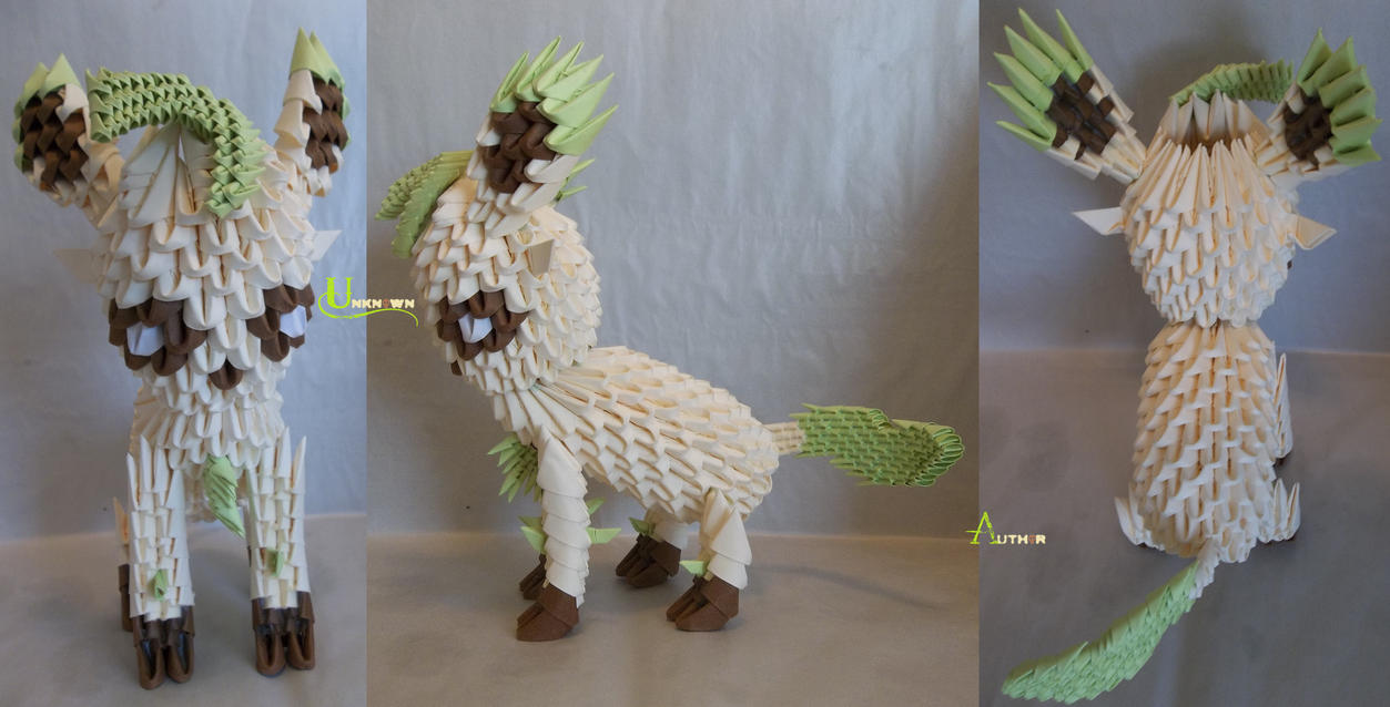 3D Origami - Leafeon by Jobe3DO