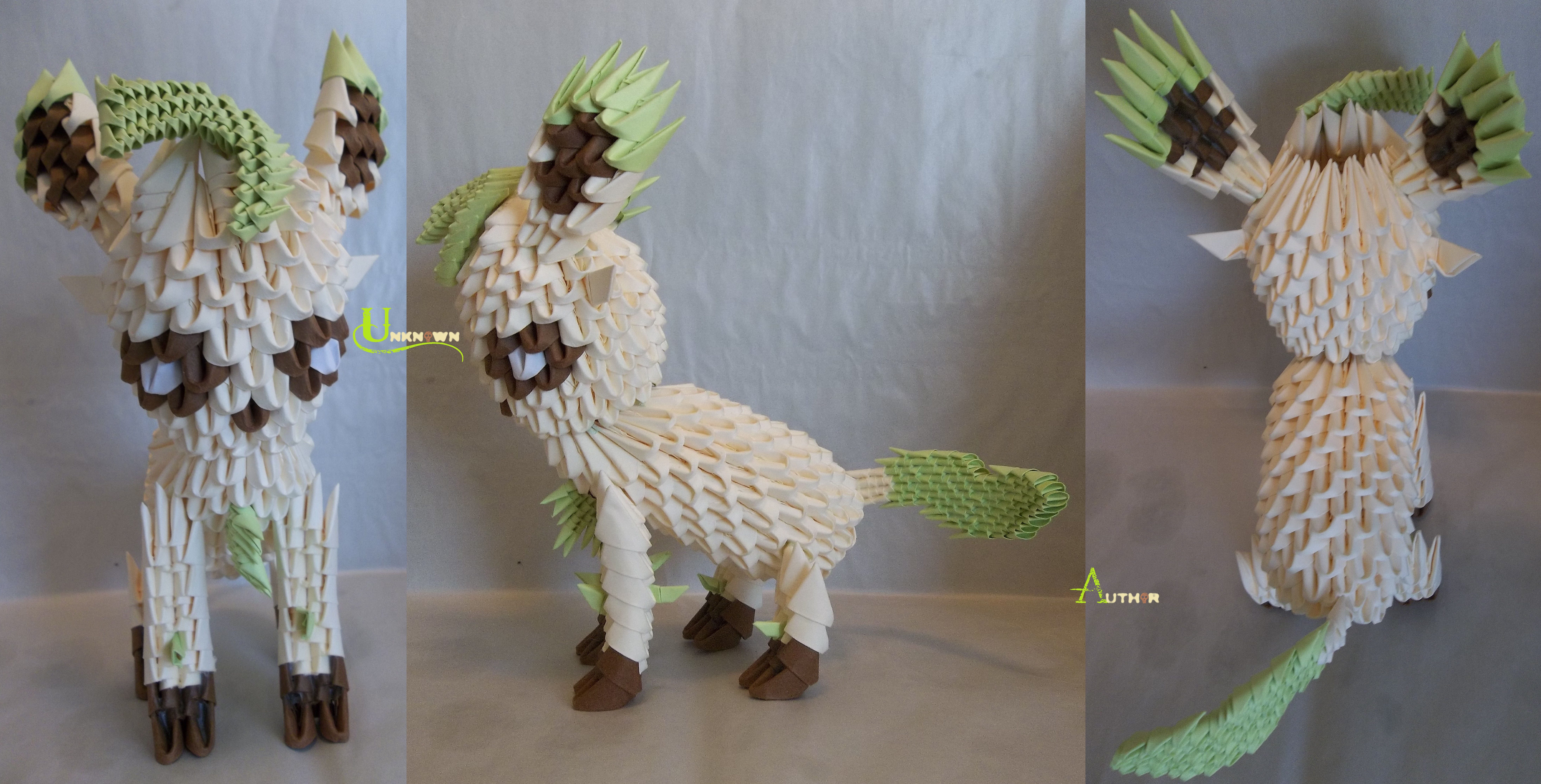 3D Origami - Leafeon by Jobe3DO on DeviantArt - photo#35