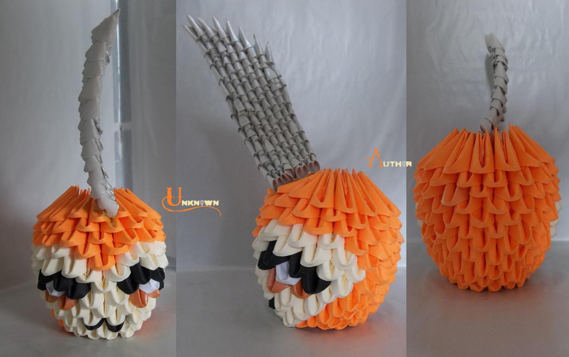 3D Origami - Tsunomon by Jobe3DO