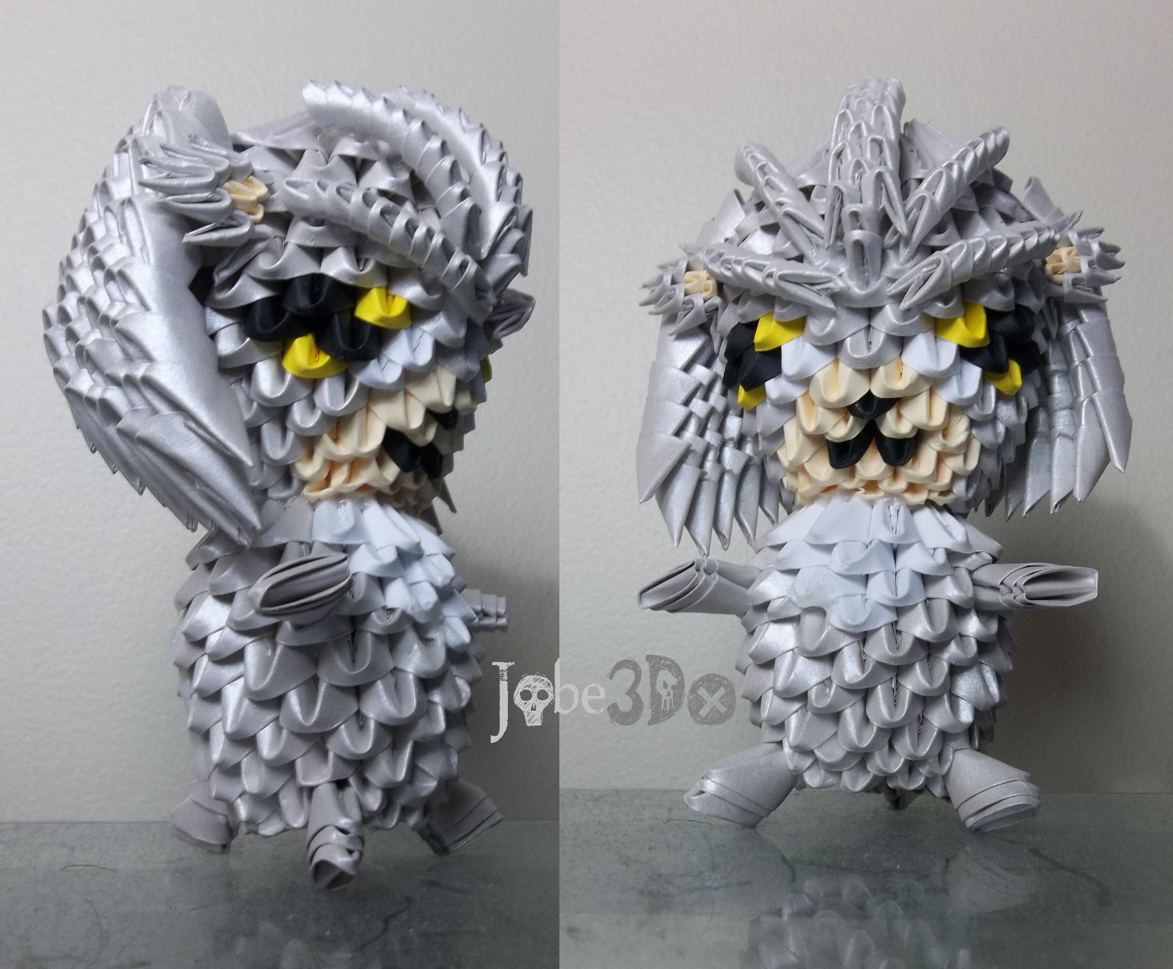 3D Origami - Chibi Silver the Hedgehog by Jobe3DO